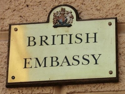 british embassy plate